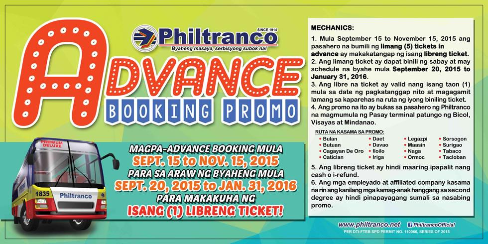 Advance Booking Promo