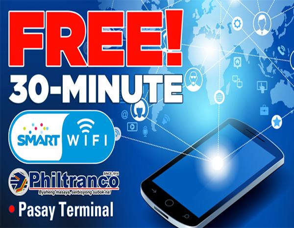 FREE SMART WIFI in Philtranco Terminal