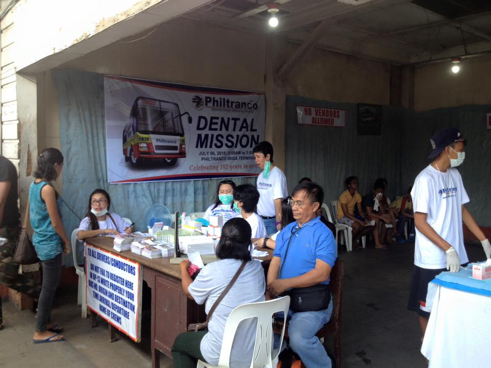 Philtranco celebrates its 102 years in service with a Dental Mission at Iriga Terminal
